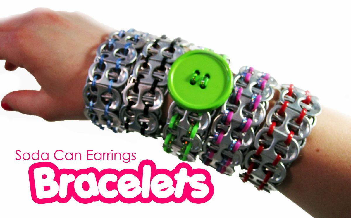 Soda Can Earrings - Bracelets
