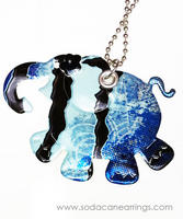 Elephant necklace hand made from recycled Monster can