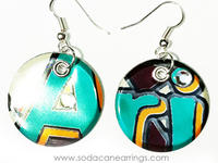 Earrings hand made from a recycled Arizona can