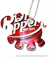 Elephant necklace hand made from recycled Dr. Pepper can