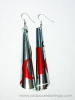 Diet Coke Soda Can Tube Earrings
