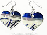 Earrings hand made from a recycled Michelob ULTRA can