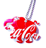 Elephant necklace hand made from recycled Coca-Cola can