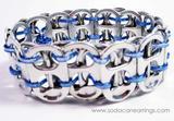 blue recycled pop tab bracelet