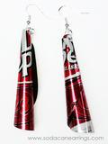 Dr. Pepper Tube Earrings