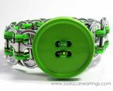 green recycled pop tab bracelet