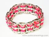 Hand made pink pop tab bracelet
