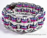 Purple recycled pop Tab Bracelet