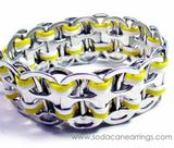 Yellow recycled pop Tab Bracelet